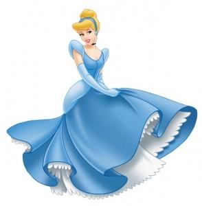 Золушка в синем платье (Disney), рисунок
