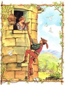 Рапунцель (сказка), рисунок