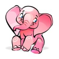 Розовый слоник, изображение